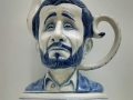 Charles Krafft, Ahmadinejad Teapot, Hand painted slip cast porcelain.