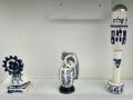 Charles Krafft, Laibach Windmill, Fragment Grenade #1, Israeli Settlers RPG, Hand painted slip cast porcelain.