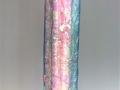 "Opalescent Order #13, 36"" x 8"" x 8"", steel, plastic, fluorescent tubes, 2014."