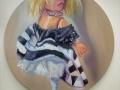 "Thedra Cullar-Ledford, Trump's Dolls 3, Oil on canvas, 20""x20""."