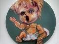 "Thedra Cullar-Ledford, Trump's Dolls 1, Oil on canvas, 20""x20""."